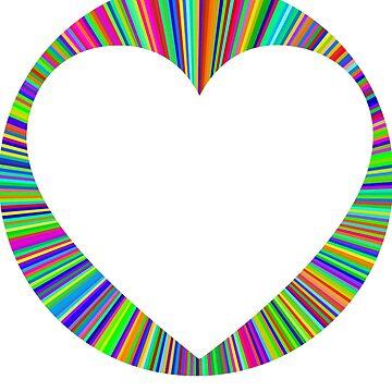Tye Dye Heart Choose Kind T-Shirt for Teachers by nfarishta