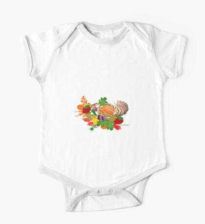 A pattern of acorn,pine cone & Leaves /cornucopia(780  Views) Kids Clothes
