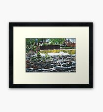 fly fishing the chattahoochee river painting Framed Print