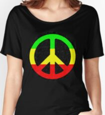 Rasta Peace Sign Women's Relaxed Fit T-Shirt