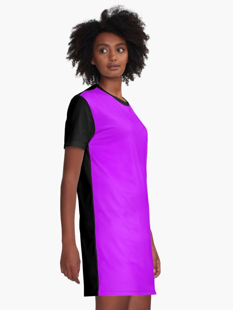 Alternate view of Neon Purple Graphic T-Shirt Dress