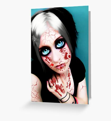 vampire eyes doll 2 Greeting Card