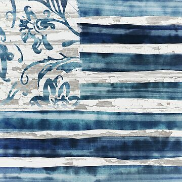 Boho Flag Indigo by mindydidit
