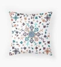 Floral and Leaves Mandala #02 Throw Pillow