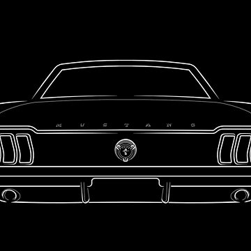 1967 Ford Mustang - rear stencil, wite by mal-photography