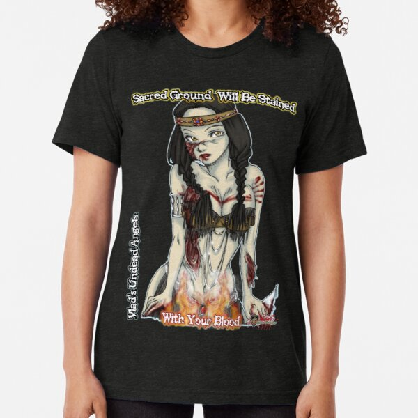 Undead Angels: Zombie Thanksgiving Native American Tri-blend T-Shirt