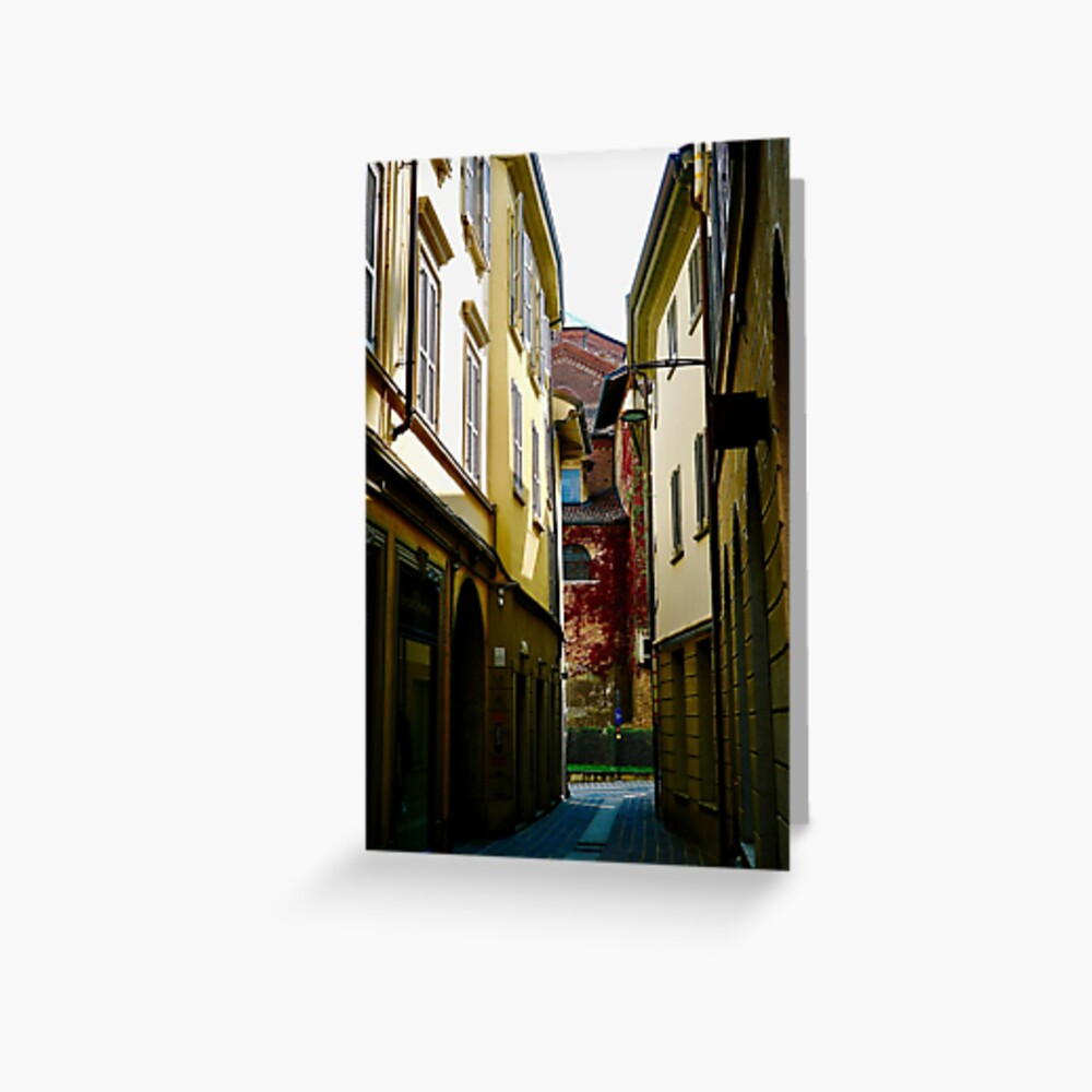 Street Scene, Monza, Italy Greeting Card