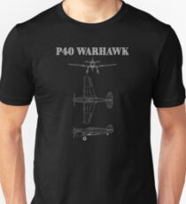 P40 Warhawk Fighter Aircraft  Unisex T-Shirt