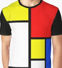 Farbblock-Pop-Art Grafik T-Shirt