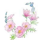 Scribble Florals One by Rebecca Shores