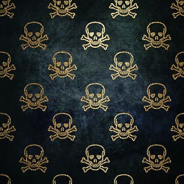 Background pattern with skulls by PM-TShirts