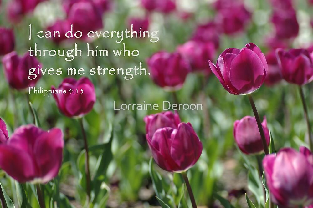Through Him by Lorraine Deroon