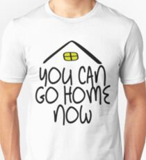 ca74a908 New Funny you can go home now fitness workout sweat activated gym Tee shirt  Unisex T