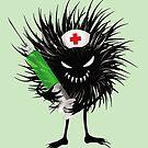 Funny Evil Bug Nurse With Syringe by Boriana Giormova