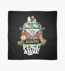 snoopy peace love Scarf