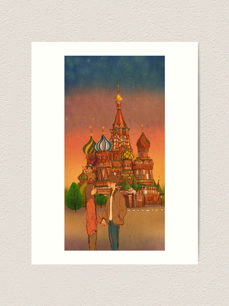 Alternate view of St. Basil's Cathedral, Red Square, Moscow, Russia Art Print