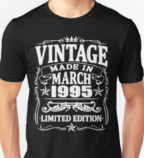 vintage since march 1995 Unisex T-Shirt