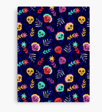 Fiesta Skulls #redbubble #skulls Canvas Print