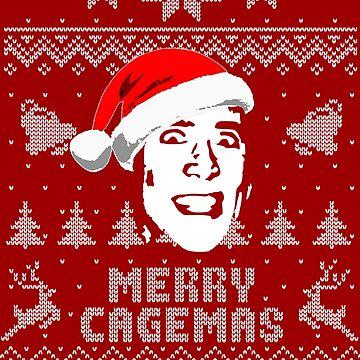 Merry Cagemas Parody Christmas Shirt by idaspark