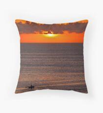 Bali straights sunset Throw Pillow