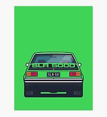 SLR 5000 Car - Rear Green Photographic Print