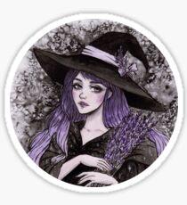 Lavendel Hexe Sticker