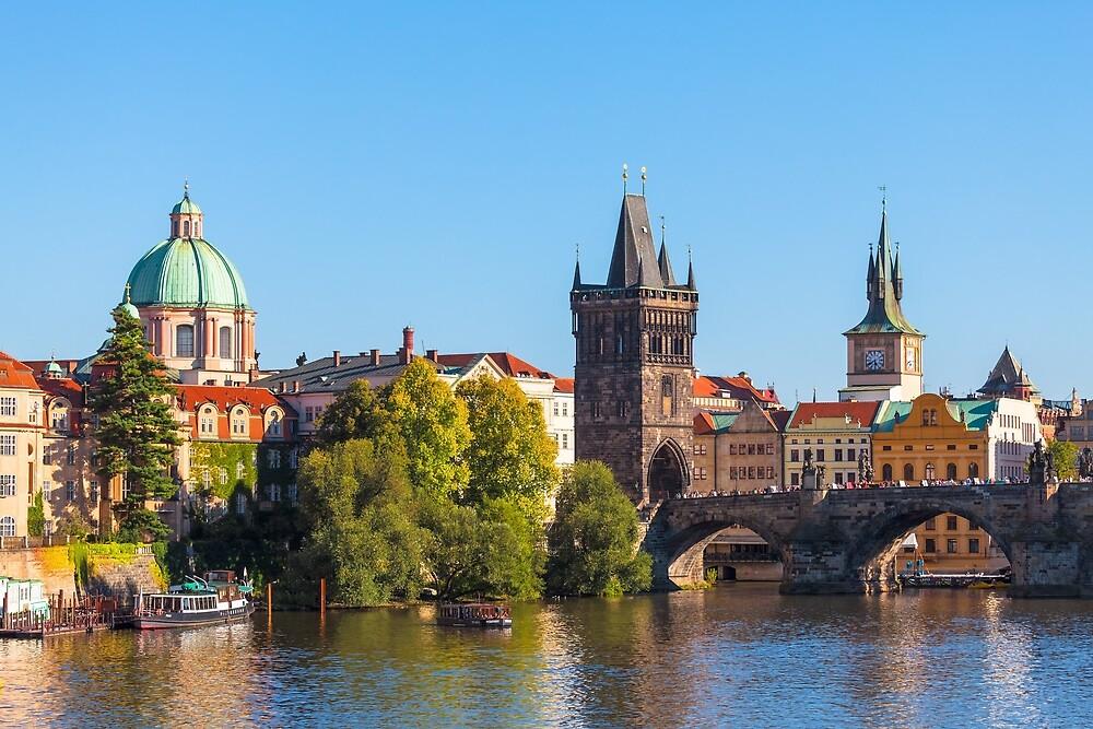 PRAGUE 005 - The City Skyline and the Vltava by seeczechia
