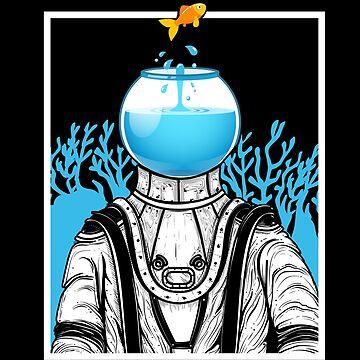 Aquarium Astronaut by GeschenkIdee