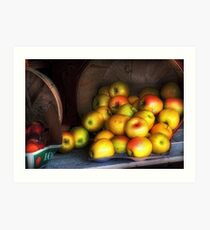 Apple Basket Art Print