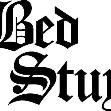 Bed Stuy Brooklyn Gothic (Black Print) by smashtransit