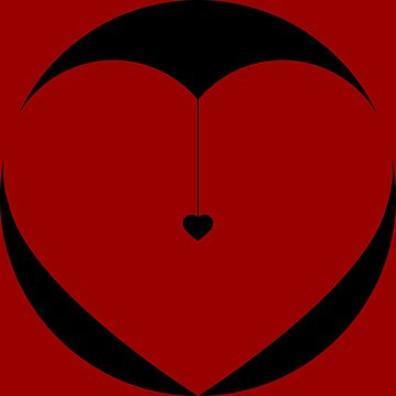 Black Heart Circle by tommyrockett
