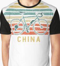 Vintage Retro Bike China Cyclist Graphic T-Shirt