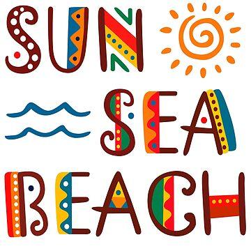 Sun Sea Beach Great Fashion T-Shirt by andalit