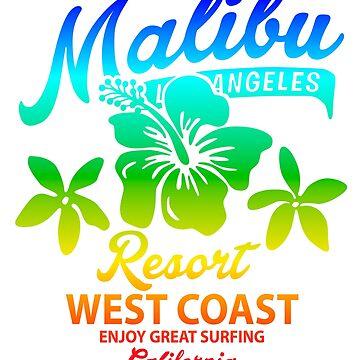 Malibu Resort West Coast California Fashion T-Shirt by andalit