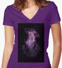 Smokey Dog Women's Fitted V-Neck T-Shirt