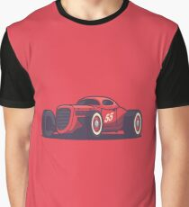 Vintage Hot Rod Classic Street Racer - Red Graphic T-Shirt