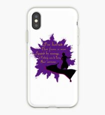 aladdin on flying carpet quote iPhone Case