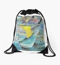 Lemon Water Drawstring Bag