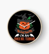 Halloween T-Shirts & Gifts: You Can't Scare Me I'm an Owner Nail Technician Clock