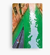 Gondola Crossing Small Canal, Venice, Italy Canvas Print