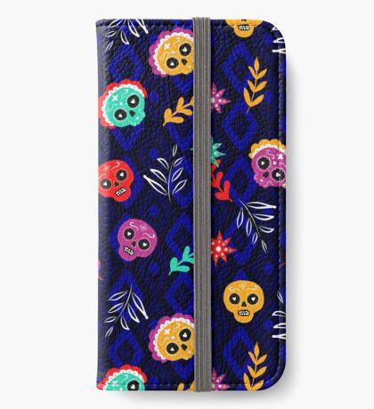 Fiesta Skulls #redbubble #skulls iPhone Wallet