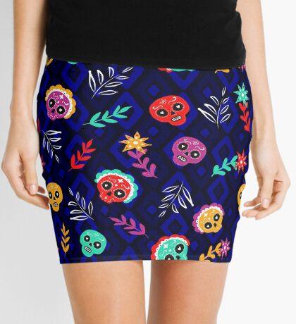 Fiesta Skulls #redbubble #skulls Mini Skirt