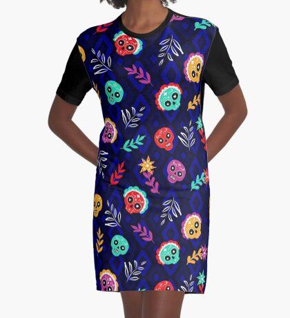Fiesta Skulls #redbubble #skulls Graphic T-Shirt Dress