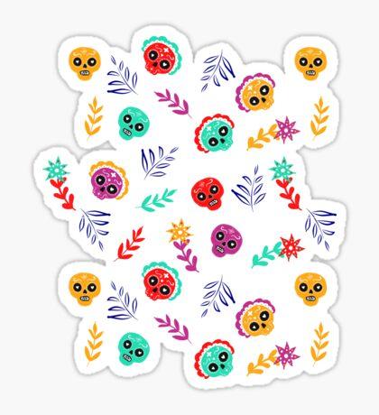 Fiesta Skulls #redbubble #skulls Glossy Sticker