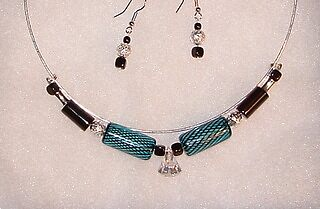 Blown Glass & Crystal choker by Linda Yurisich