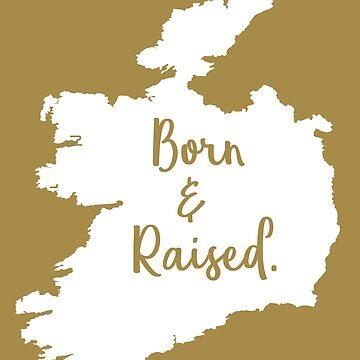 Ireland Born Raised Irish Birthday Christmas Gift by smily-tees