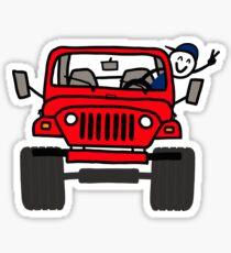 Jeep Wave Red - Boy Sticker