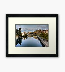 River Rhone leaving Geneva Framed Print