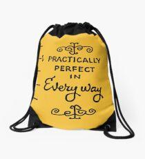 practically perfect Drawstring Bag