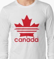 Canada Sport Maple Leaf Long Sleeve T-Shirt